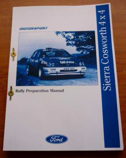 Ford Motorsport sapphire Cosworth GPA biuld books