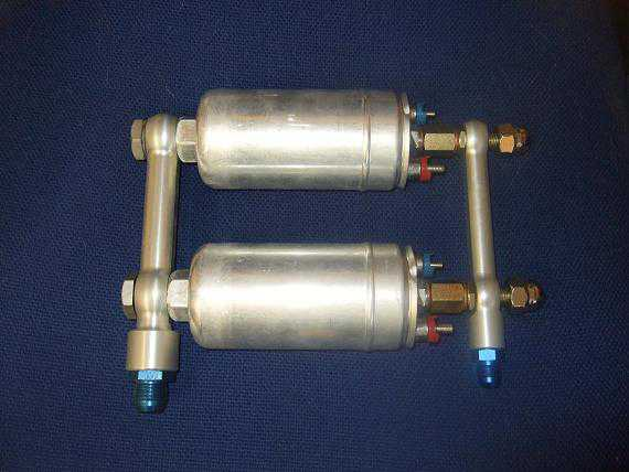 Ford RS200 twin Bosch alloy twin fuel pump setup