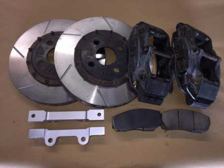 Cosworth Gravel front GPA used 304mm brake setup