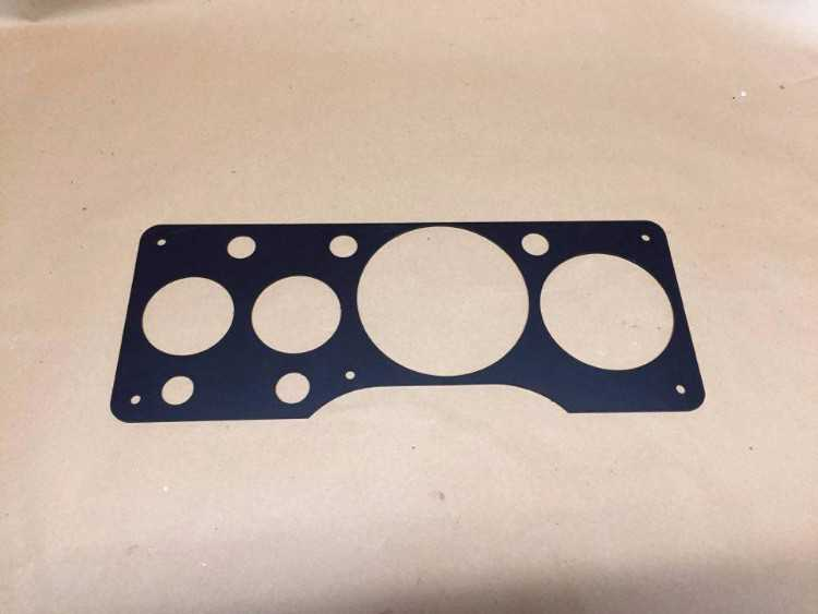 Ford RS200 works alloy dash panel