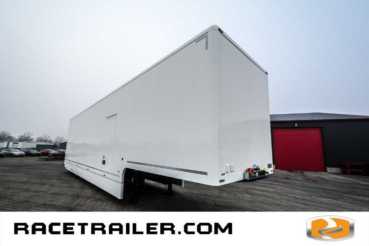 NEW: Racetrailer, up to 4 cars, 2nd deck office