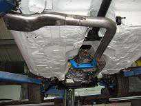 Motorsport stainless steel side exit exhaust
