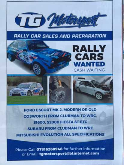 RALLY CARS WANTED